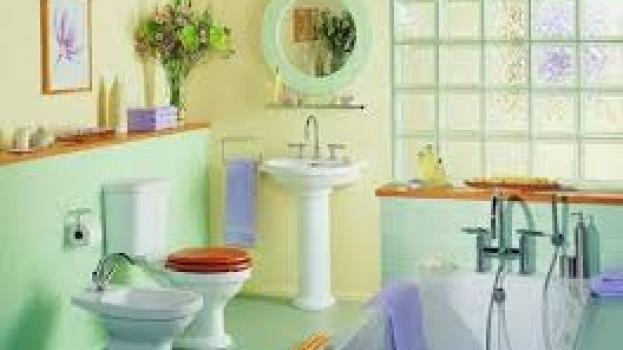 Colores Pasteles  iluminan el baño